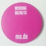 WEDDING MA.DE